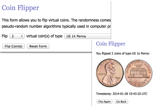 """For problem 5-43, set the """"Flip"""" to 2.  Then choose your coin."""