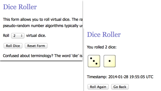 To simulate a dice roll using the Dice Fipper, choose settings indicated below.