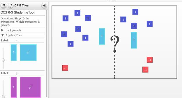 Screen shot of 6-3 Student eTool.