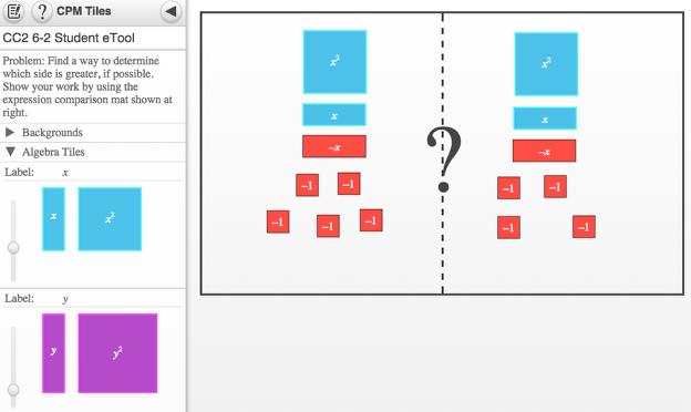 Screen shot of 6-2 Student eTool.