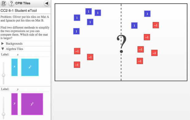 Screen shot of 6-1 Student eTool.