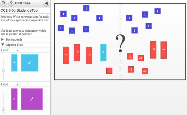 Screen shot of 6-5b Student eTool