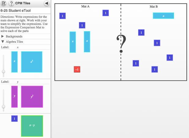 Screen shot of 6-25 Student eTool