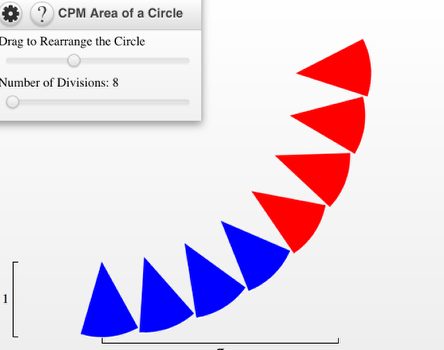 Divide the circle into several divisions.