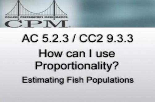 Estimating Fish Populations: