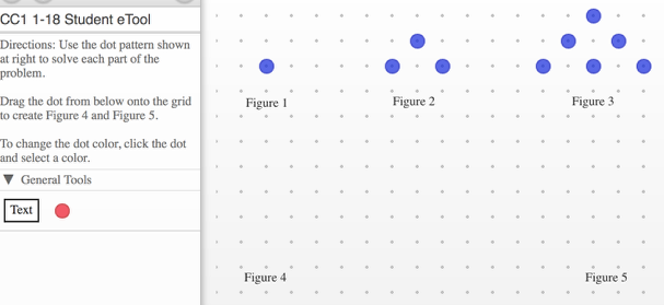 Create figures 4 and 5 showing the pattern of growth using various colored dots.