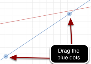 Drag the blue dots on the blue line to show what the graph would look like if Gustavo's money doubled in 10 years.