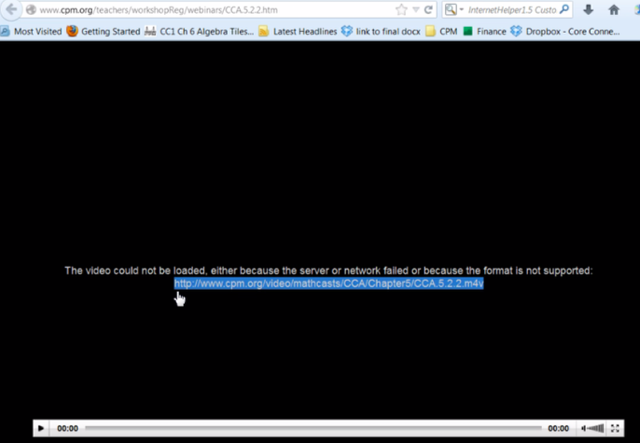 Firefox:  Copy the link from the error page.  Paste it in the browser.  Check to see if it plays.
