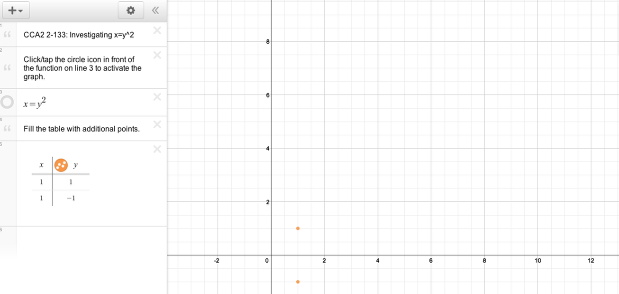 "Add your own functions in the form of ""y = "" to match the given graph."
