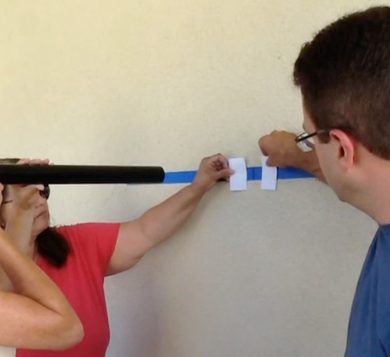 Step 3: Measure the field of view for various distances from the wall.