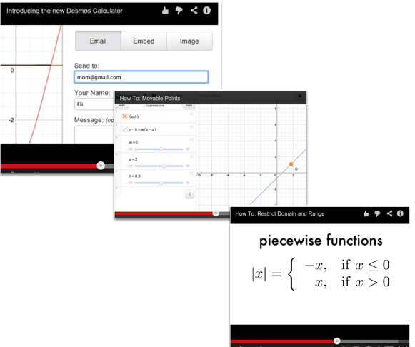 The video links will help you with many of your graphing projects!