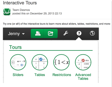 The interactive tours will NOT let you make a mistake! Try the links above!