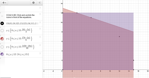 Select the inequalities desired for viewing and discussion.