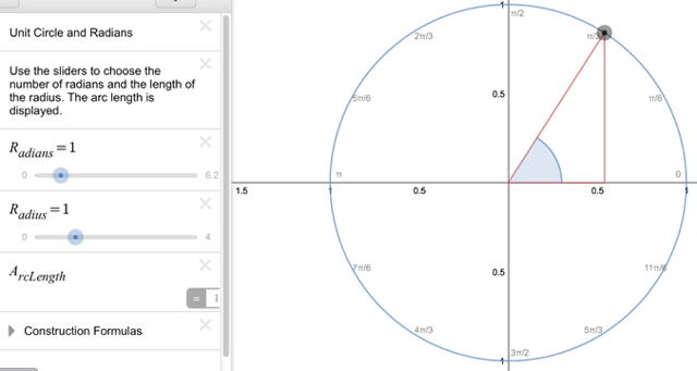 Unit Circle and Radians: