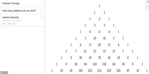 """There are 11 rows of Pascal's triangle starting with the 0th row, """"1"""" at the top."""