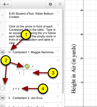 Open each folder and input equations and data.
