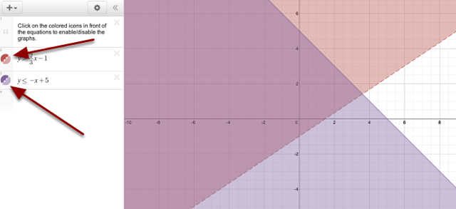 9-89 Graphs: Click the circles to turn on and off the individual graphs.