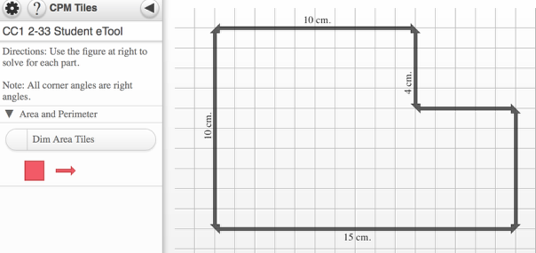 Use the area tiles and color to illustrate two ways to find area.