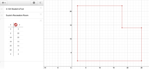 Using the diagram, answer 3-124 a-c. You can save your work digitally or use the eTool to explore ideas writing your final version on graph paper.