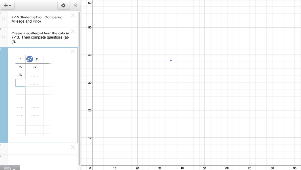 Input data points and answer 7-15 parts a-f.