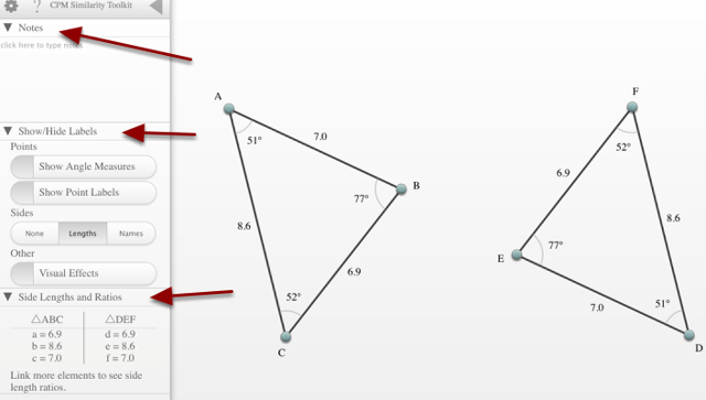 Similarity Toolkit Basic Controls: