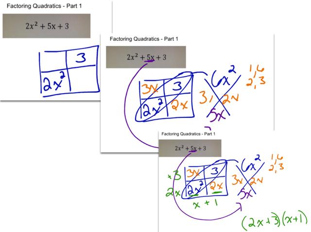 Factoring Trinomials (Using Diamond Problems):