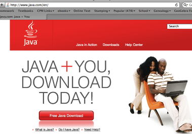 3. If you do not have Java 1.4.2 or later, go to Java.com and follow directions for download.