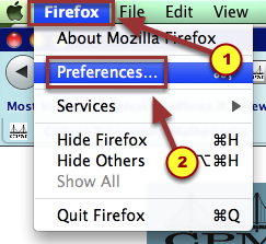 "1a. To verify if Javascript is enabled, from the Firefox menu, click ""Preferences""."