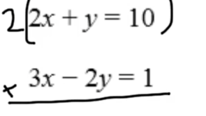 Part 3: Multiply by a constant to eliminate the y variable.
