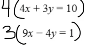 Part 4: Multiply both equations by a constant to eliminate a variable.