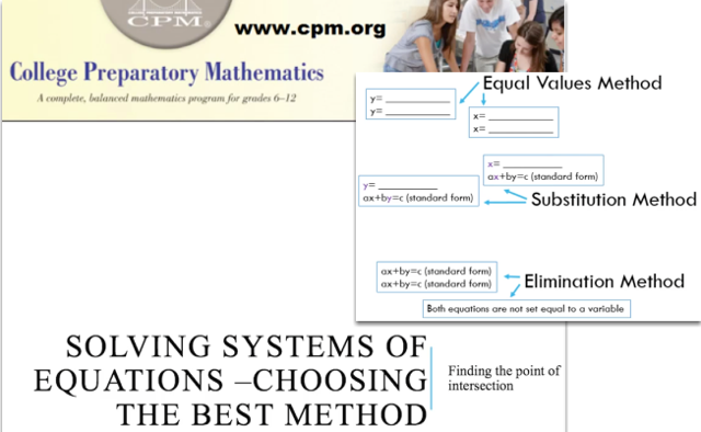 Solving Systems of Equations - Choosing the Best Method
