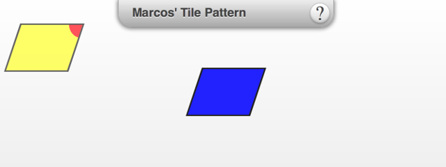 This interactive eTool starts with the following parallelograms. Drag the blue tile to tessellate.