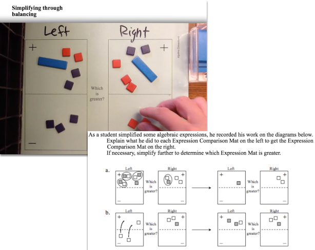 Algebra Tiles: Legal Simplification Moves