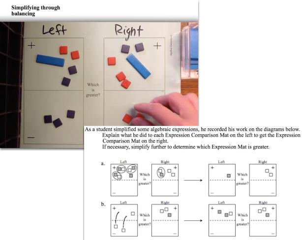 Algebra Tiles: Legal Simplification Moves
