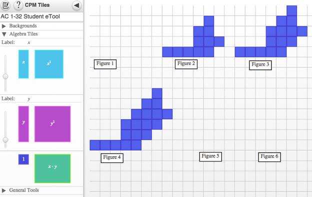 1-32 Student eTool: Drag tiles to create figures not shown.