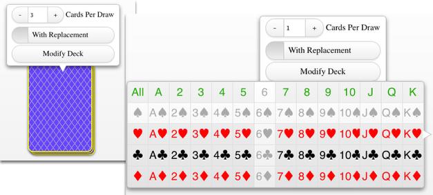 Standard Deck of Cards: