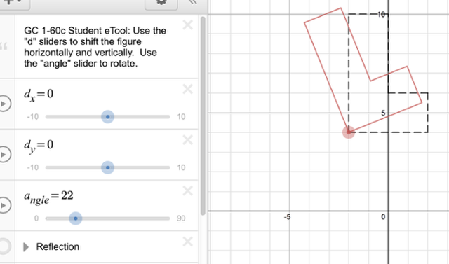 1-60c: Drag the Angle Slider to view the rotation.