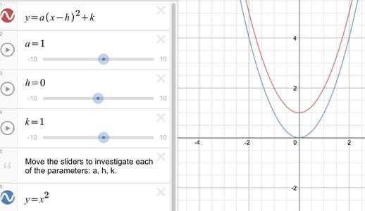 CCA2 2-30 Transforming Parabolas Student eTool: