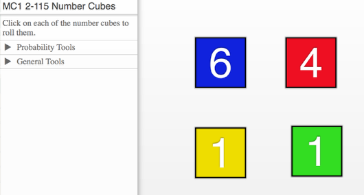 MC1 2-115 Number Cubes: