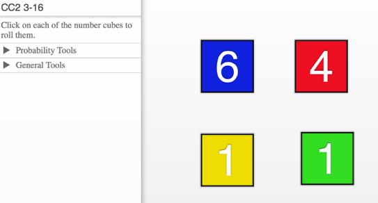 CC2 3-16 Number Cubes: