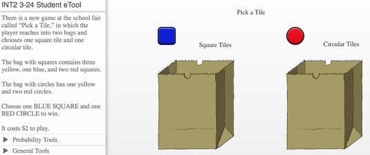 Click the bag to pick a square tile and a circle tile randomly.