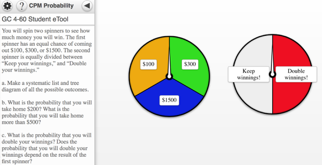 GC 4-60 Student eTool: Click the spinner to spin.