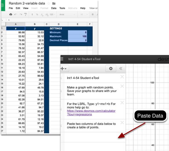 Random Point Generator & Int1 4-54 Student eTool (Desmos):