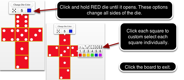 Change the RED die: