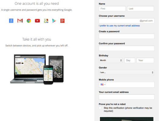 Step 1: Login to your Google Account.