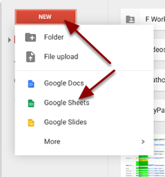 Step 3: Get a new Google Sheet.