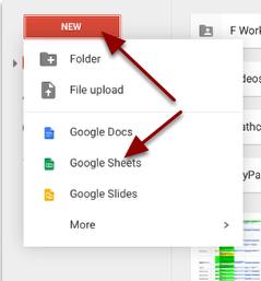 Step 3: Get a new Google Sheet.