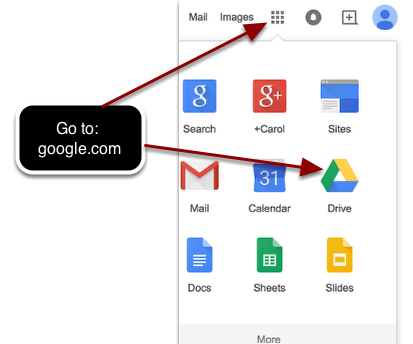 Step 2: Go into your google drive.