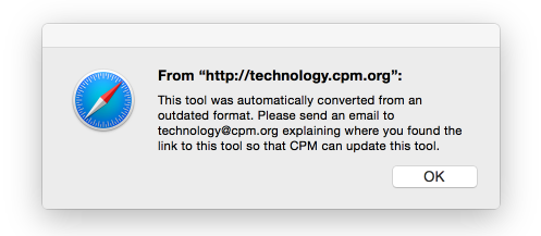Popup from CPM eTools in eBooks: