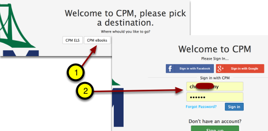 Go to your destination. Enter your username and password.